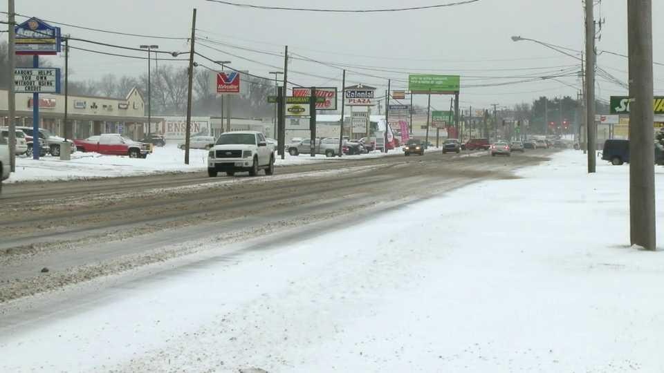 Snow, road, winter, ice