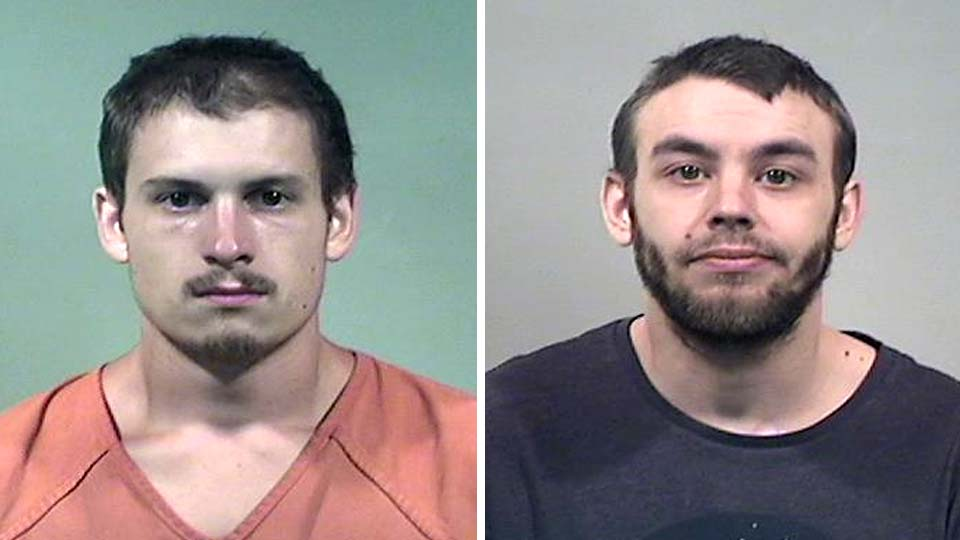 Chris Brown and Chris Rakarich, charged with robbery in Warren.