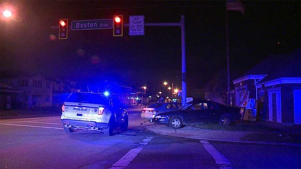 One person was hurt in a crash on Youngstown's south side Tuesday morning.