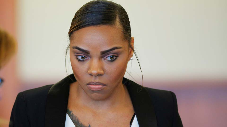 Shayanna Jenkins, fiancee of former New England Patriots football player Aaron Hernandez