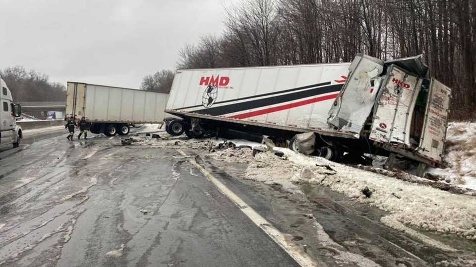 The Braceville Fire Department is warning drivers to be cautious in the snow after a crash Saturday morning.