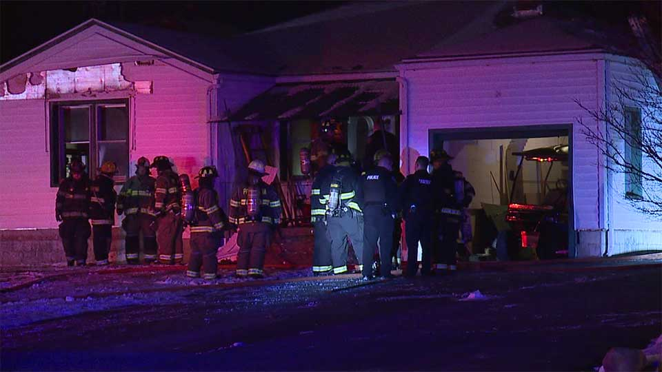 Crews were called to a home on Sharon New Castle Road shortly before 2 a.m.