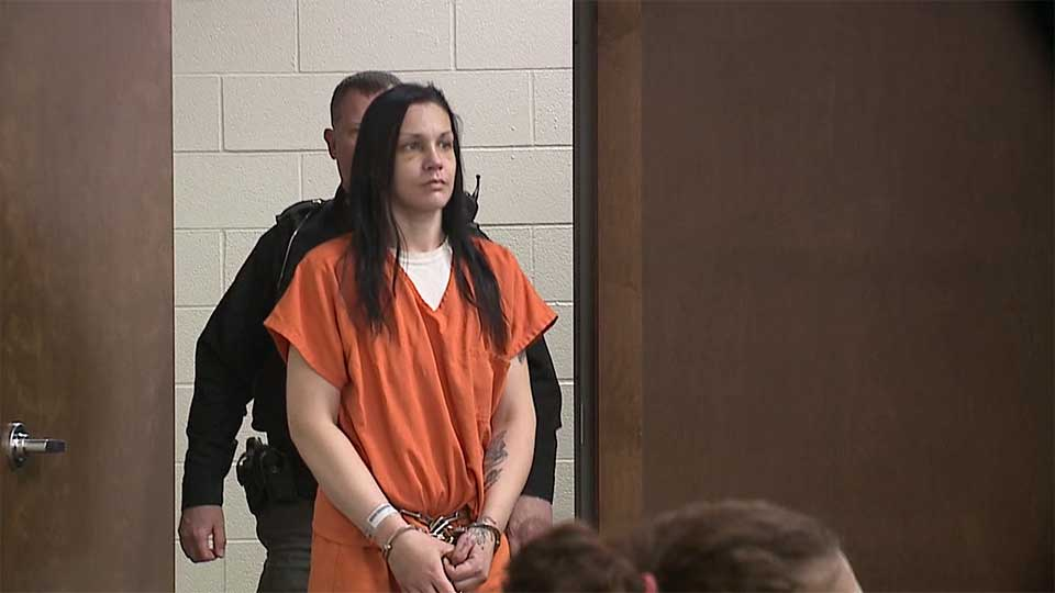 A Sebring woman accused of arson appeared in court Thursday, where she waived a preliminary hearing.