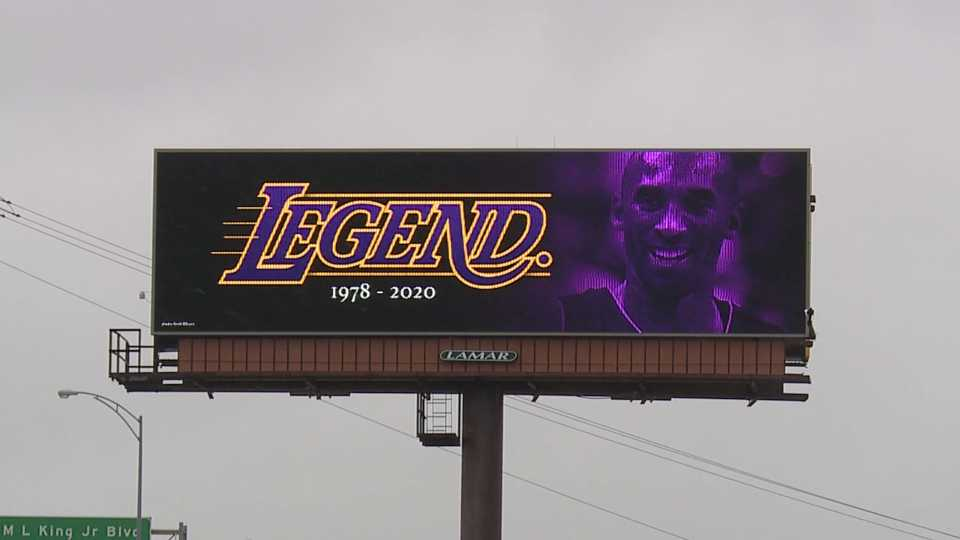 Kobe Bryant billboard remembrance