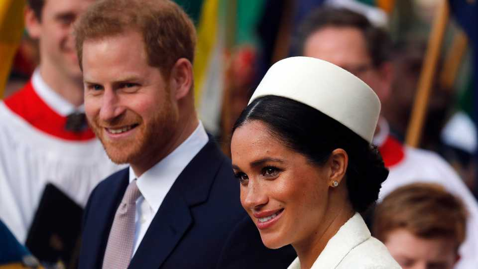 In this Monday, March 11, 2019 file photo, Britain's Prince Harry and Meghan, the Duchess of Sussex leave after the Commonwealth Service at Westminster Abbey in London. Prince Harry and Meghan Markle are to no longer use their HRH titles and will repay £2.4 million of taxpayer's money spent on renovating their Berkshire home, Buckingham Palace announced Saturday, Jan. 18. 2020.