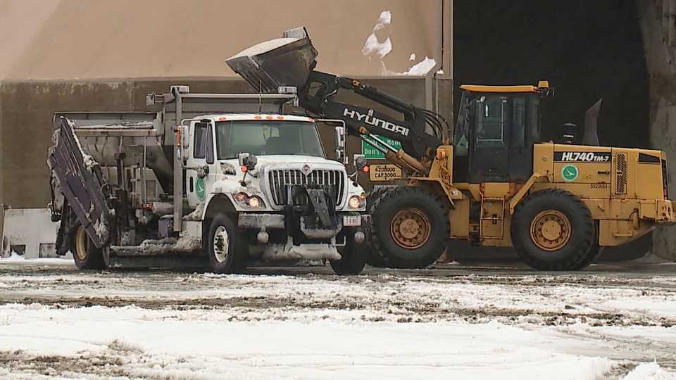 Trumbull County ODOT plow trucks