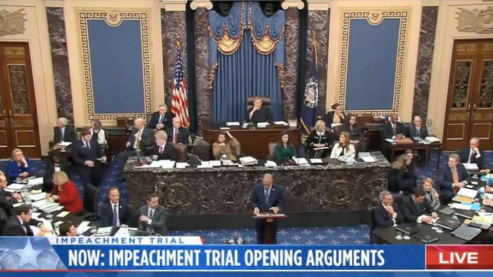 Trump impeachment trial livestream