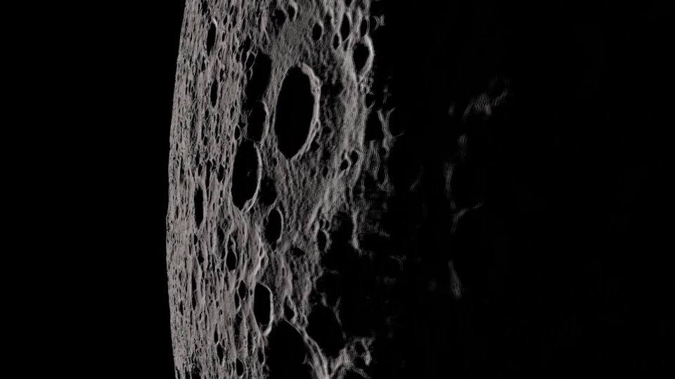 The lunar reconnaissance orbiter spacecraft is sending data that gives us the point of view of Apollo 13 astronauts.
