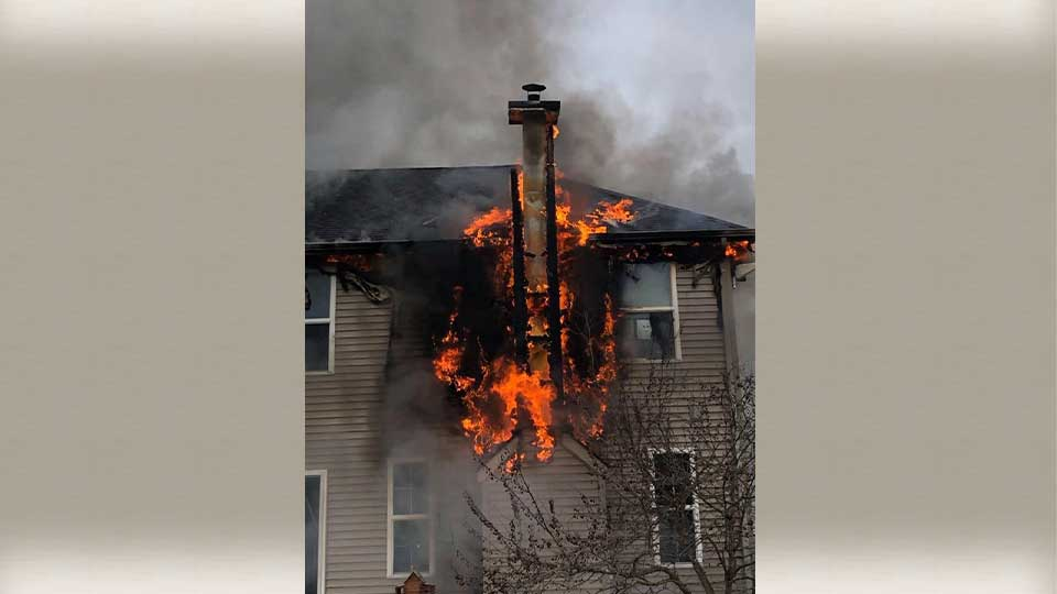 A chimney fire in Ashtabula County Wednesday caused a lot of damage to a house.