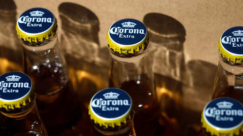In this Thursday, April 1, 2010, photo, Corona beer, a Constellation Brands Inc. product, is seen in Marysville, Pa.