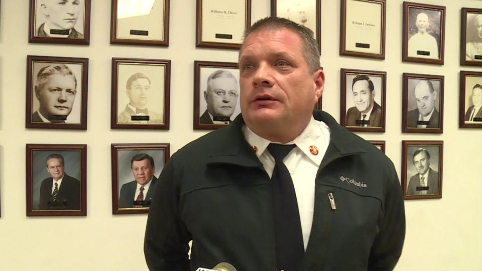 Eagle Joint Fire District Chief Ron Stanish, Hubbard