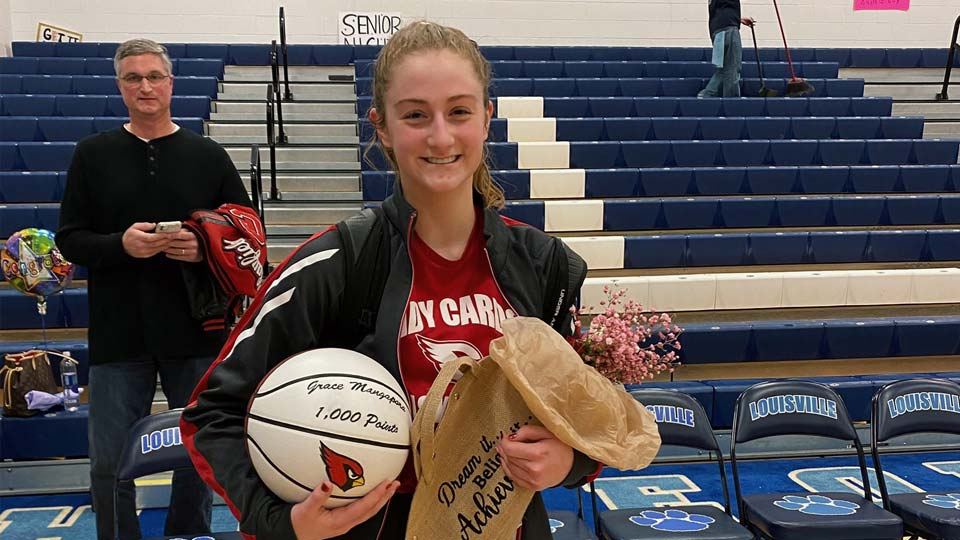 Grace Mangapora, Canfield Cardinals, 1,000 points high school basketball