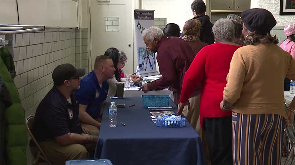 A luncheon for senior citizens took place Thursday at Youngstown's McGuffey Centre.