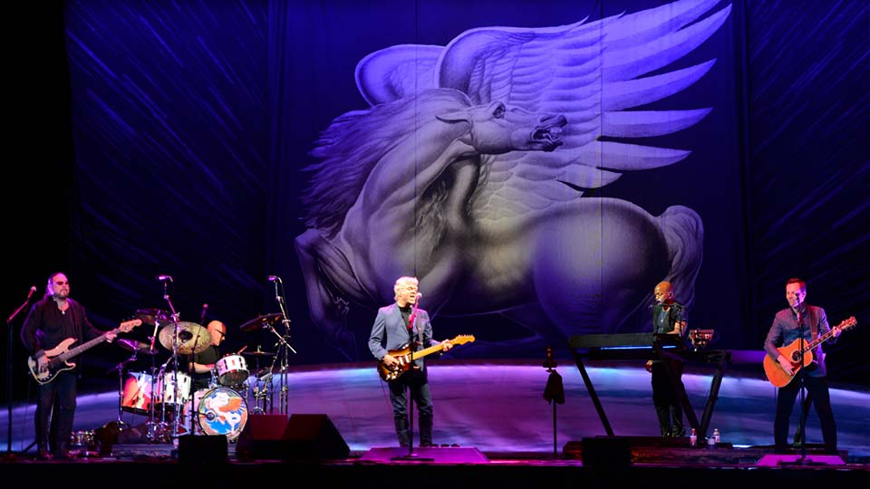 The Steve Miller Band performs at the Erie Insurance Arena in Erie, Pa., Thursday, Sept. 6, 2018.