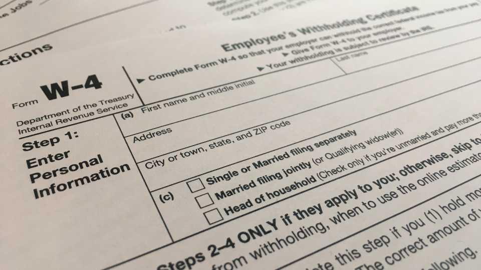 W-4, new tax form
