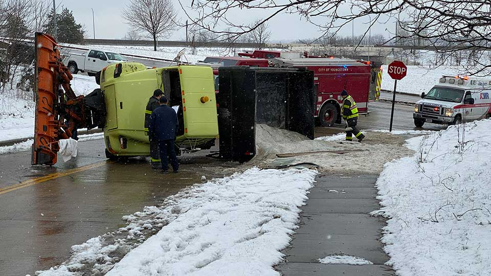 Youngstown plow truck crash