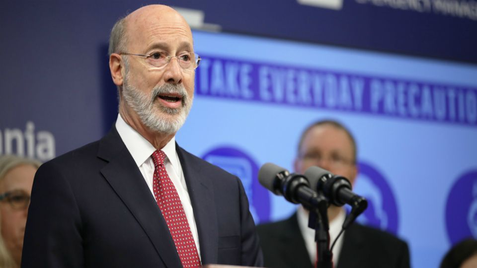 Governor Tom Wolf and the state Health Department gave an update of COVID-19's statewide impact.
