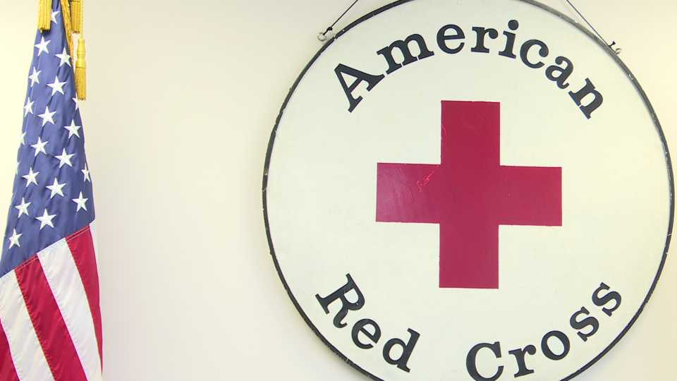 Red Cross blood shortage with canceled blood drives due to coronavirus.
