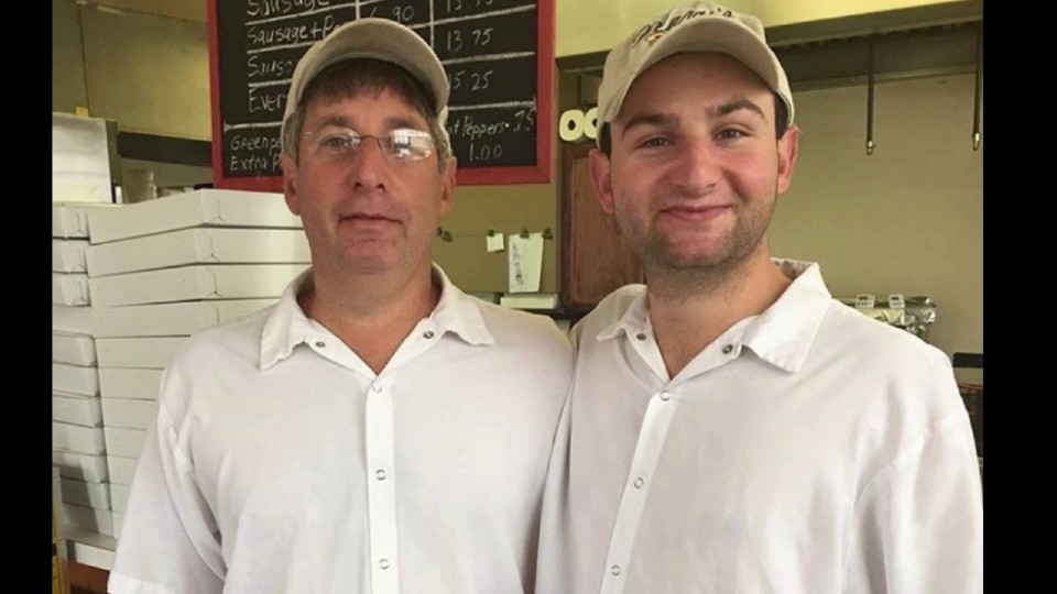 Steve and Nathan Garafolo, owners of Mary's Pizza in Lisbon
