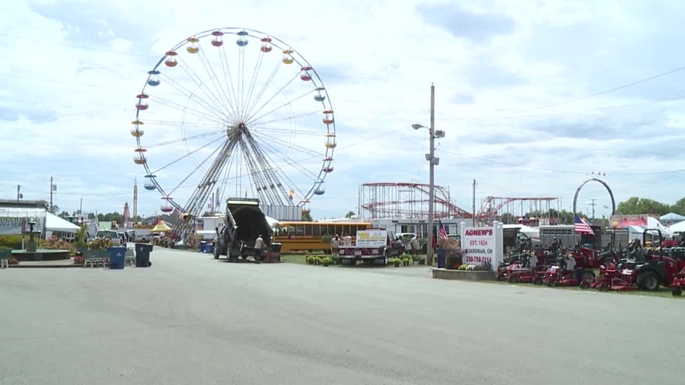 Canfield Fair, Ferris wheel, rides