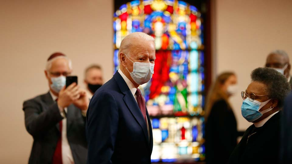 Democratic presidential candidate, former Vice President Joe Biden visits Bethel AME Church in Wilmington