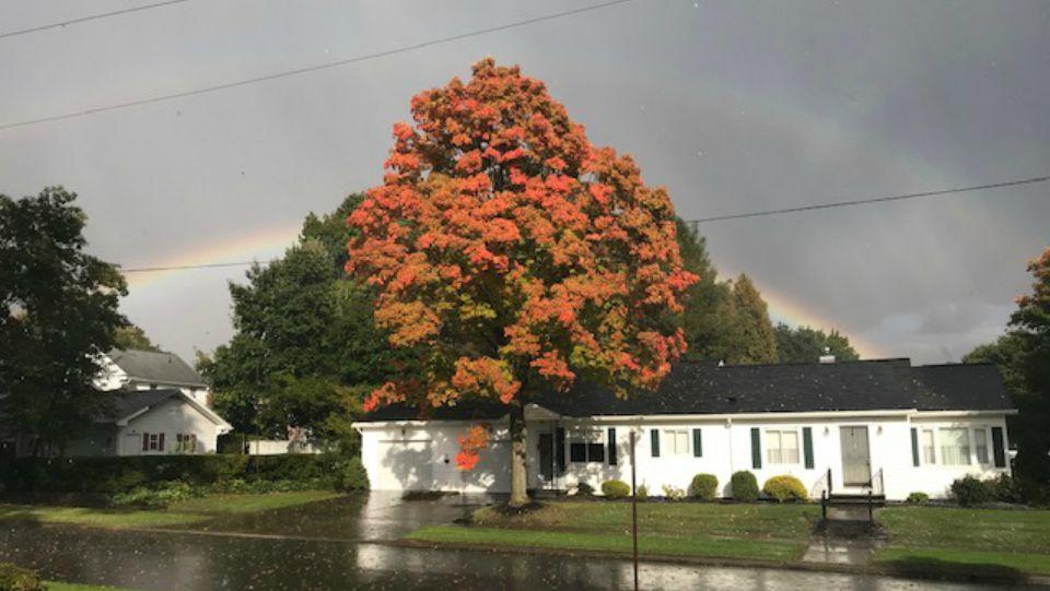 Hail and rainbows Greenville