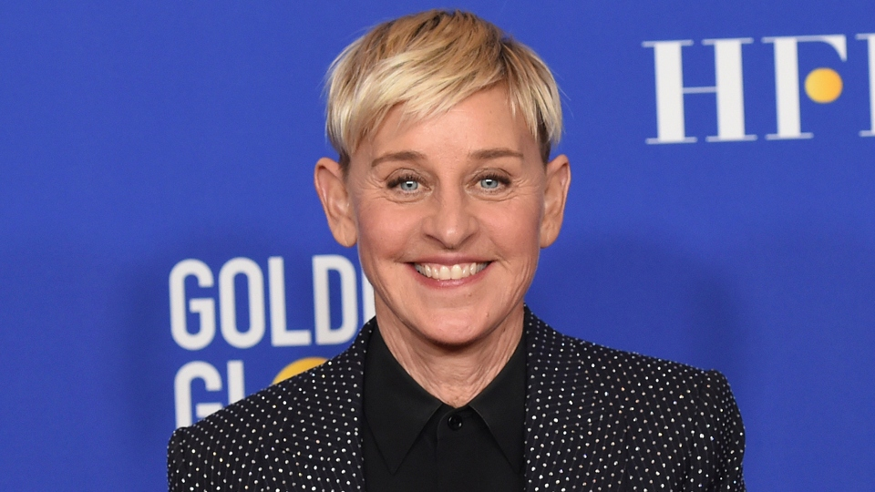 Ellen DeGeneres poses in the press room at the 77th annual Golden Globe Awards on Jan. 5, 2020, in Beverly Hills, Calif.