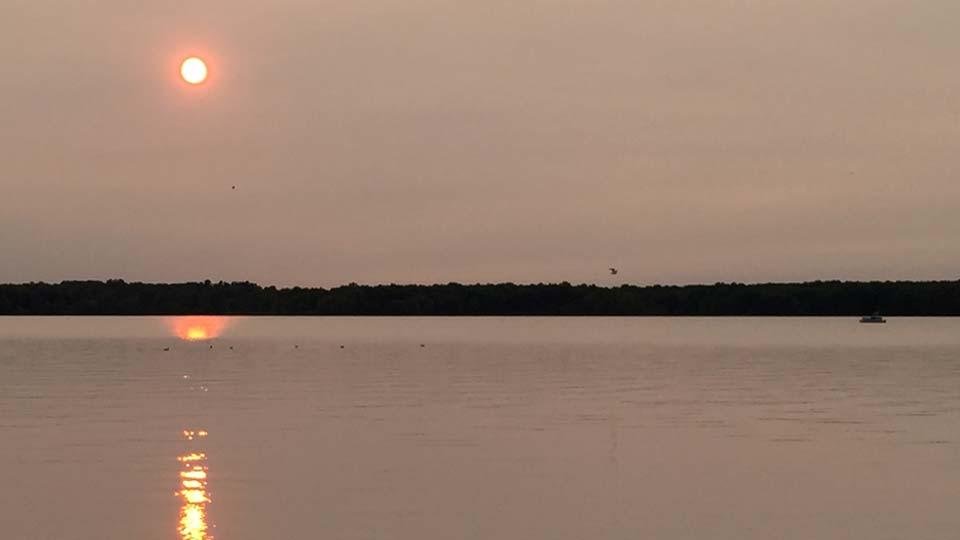 Sun over Mosquito Lake