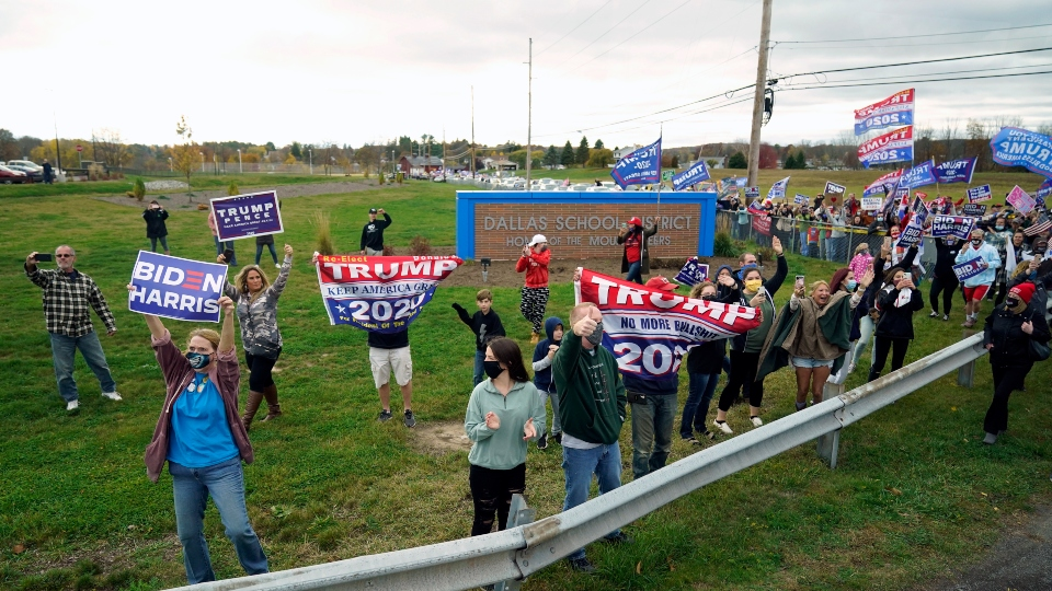 Political signs, Trump, Biden