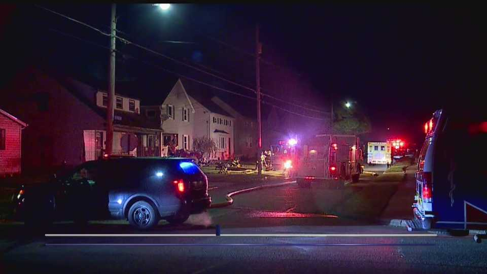 Several fire departments assisted at a house fire in Struthers overnight.