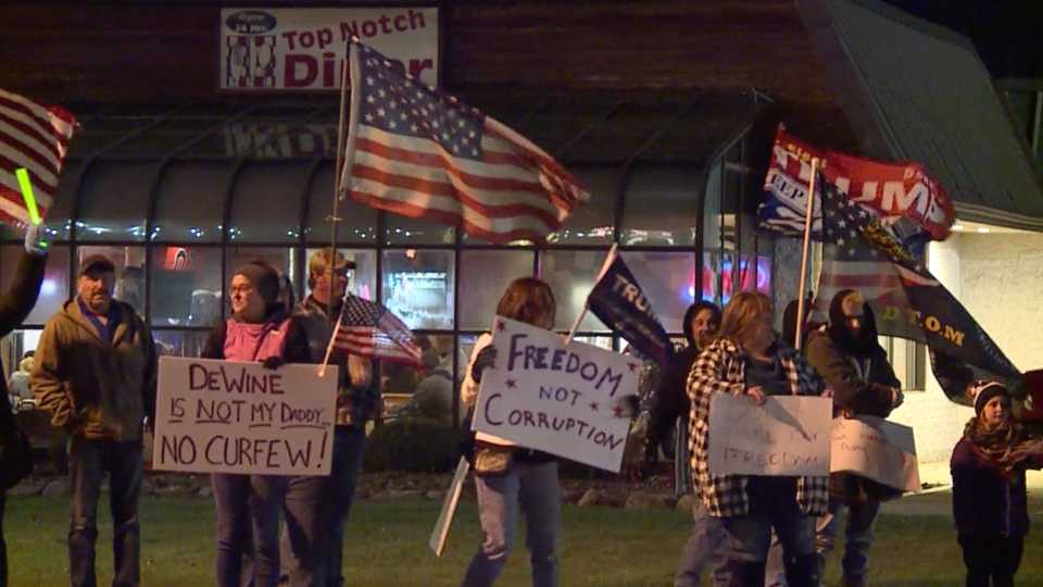 Top Notch Diner in Cortland curfew protests