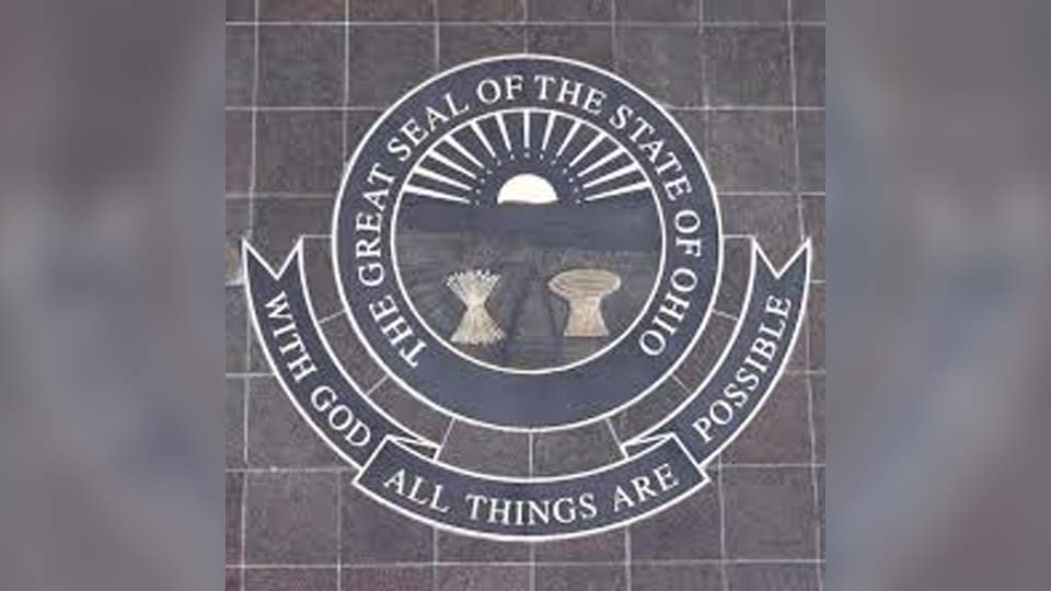 Ohio state seal and motto