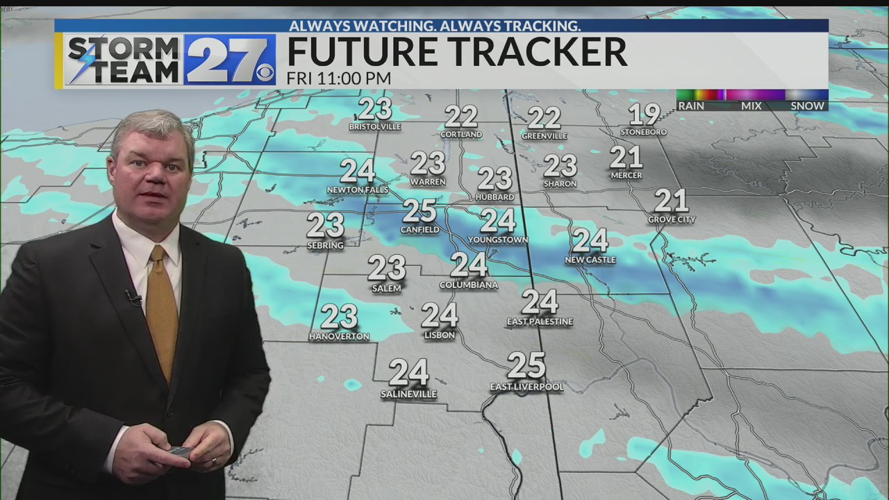 Snow showers tonight - A colder weekend