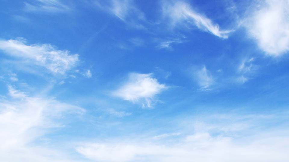 Clouds in the sky on a sunny day.