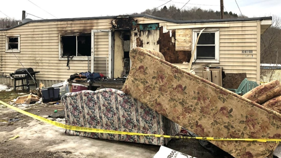 Madison Township trailer fire