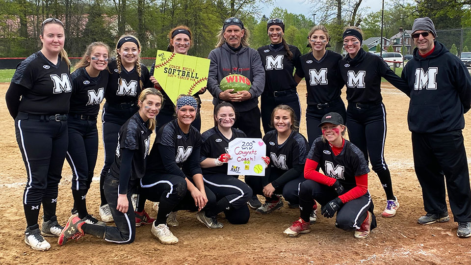 Coach Jim Nicula, Mathews Highschool Softball
