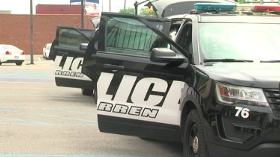 Warren Police cruisers were filled with food donations earlier Saturday afternoon.