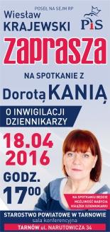 Zaproszenie do Tarnowa-D.Kania