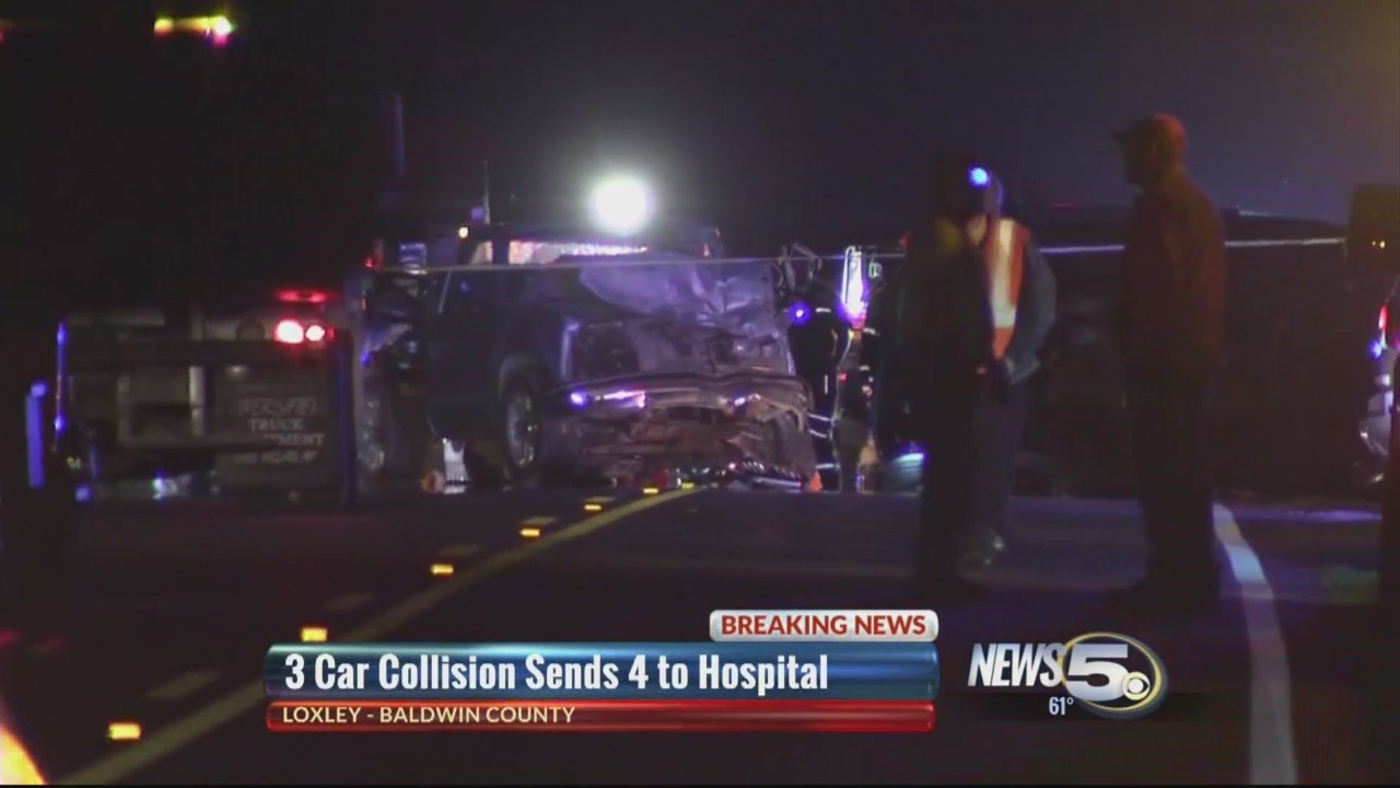 Bad 3 Car Collision Injures 4 In Loxley
