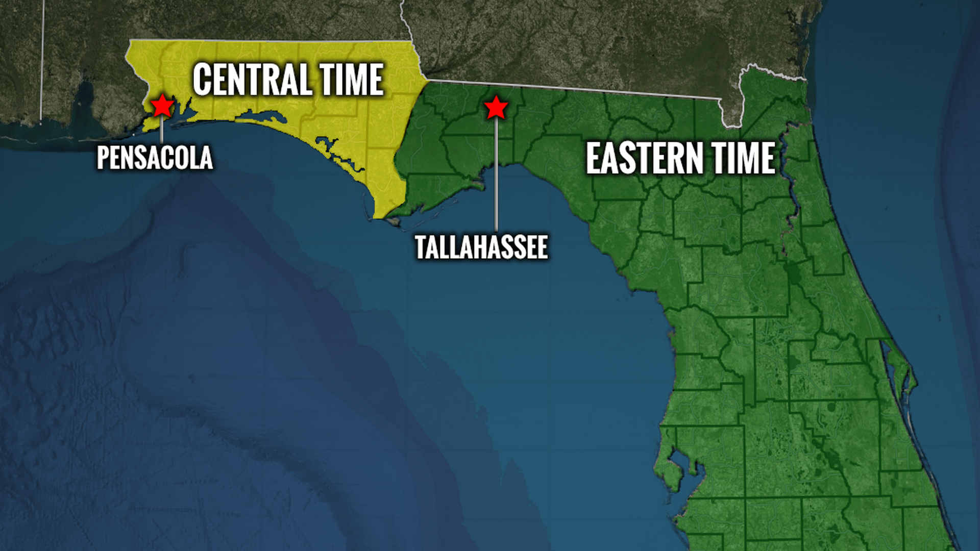 Northwest Florida in Eastern time zone? Bills would unify ...
