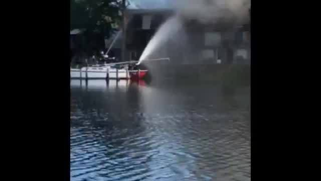 Multiple Pier One Condominium units destroyed in morning fire