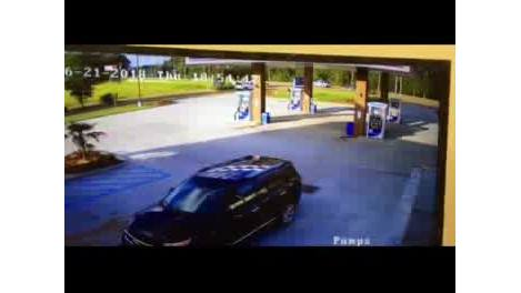 Woman's car goes airborne in Mississippi, lands at gas station
