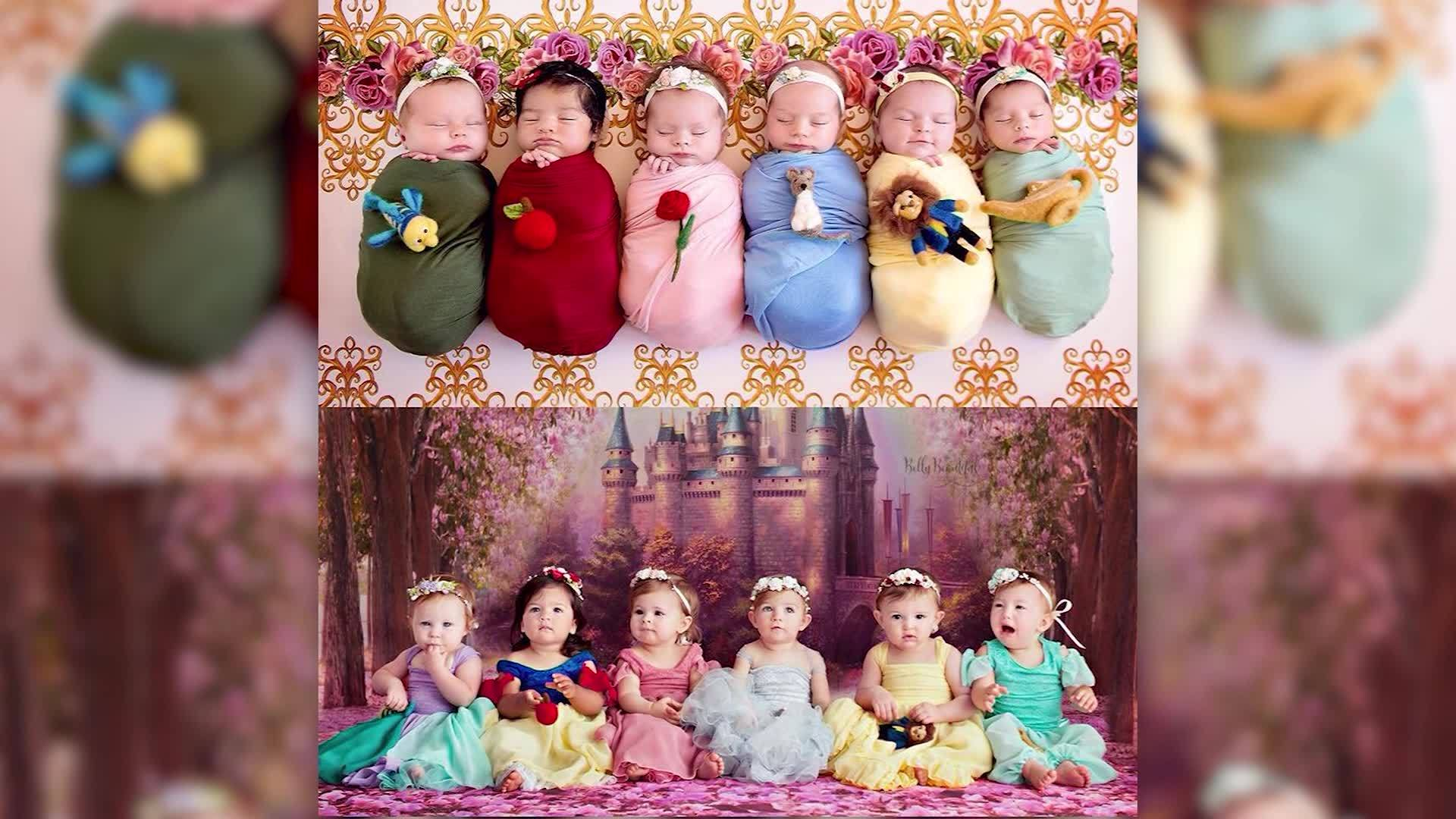 Photographer reunites Disney princess newborns 1 year later