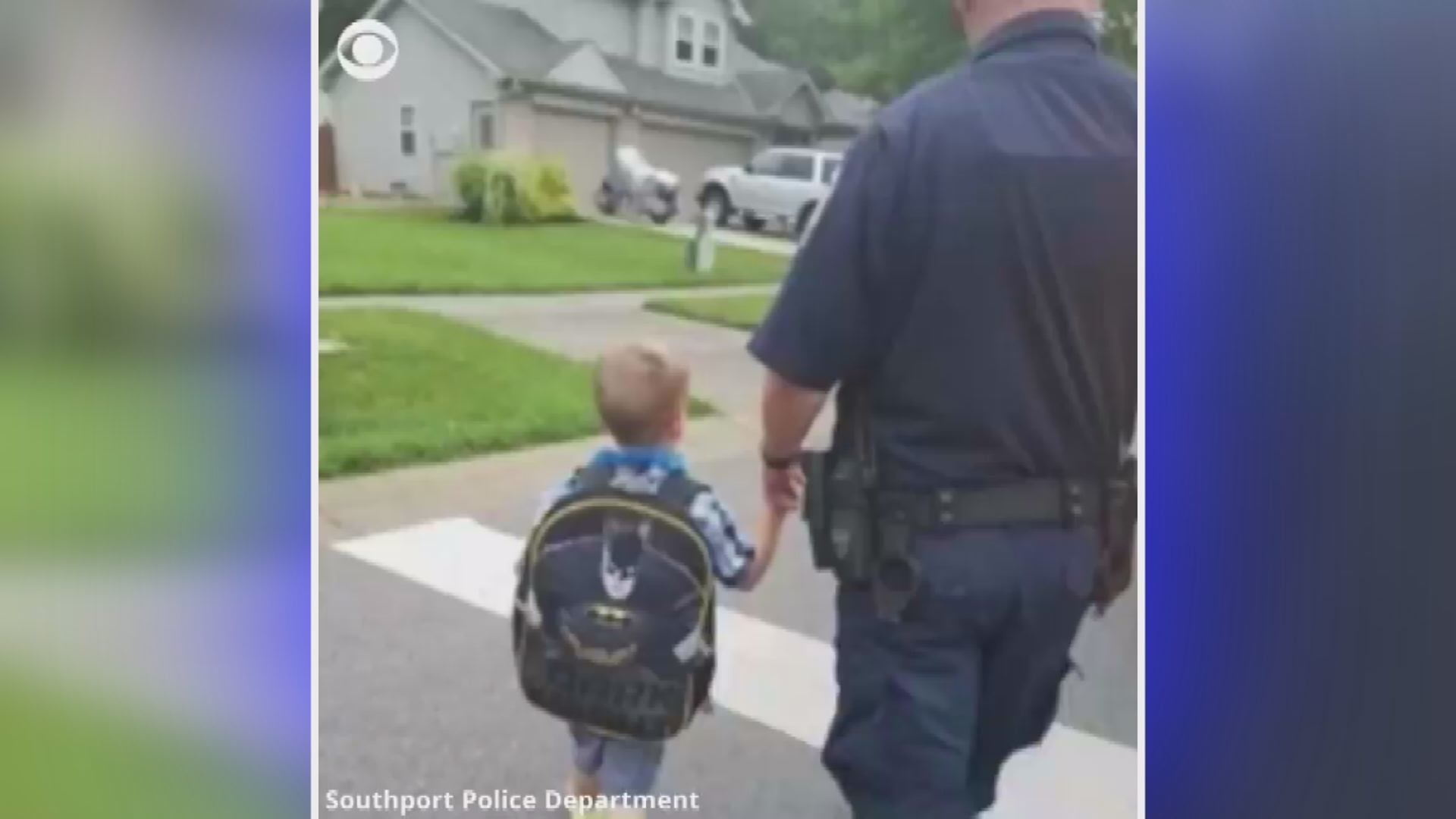Police escort son of fallen officer to first day of school
