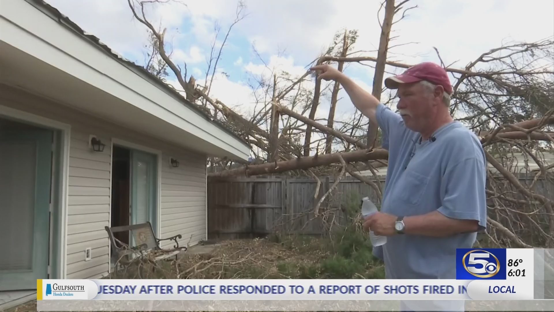 Bay County man thanks God for sparing his life, home during Hurricane Michael