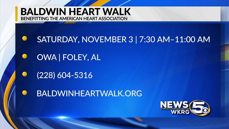 "WKRG's ""Mark Your Calendar"" - Baldwin Heart Walk"
