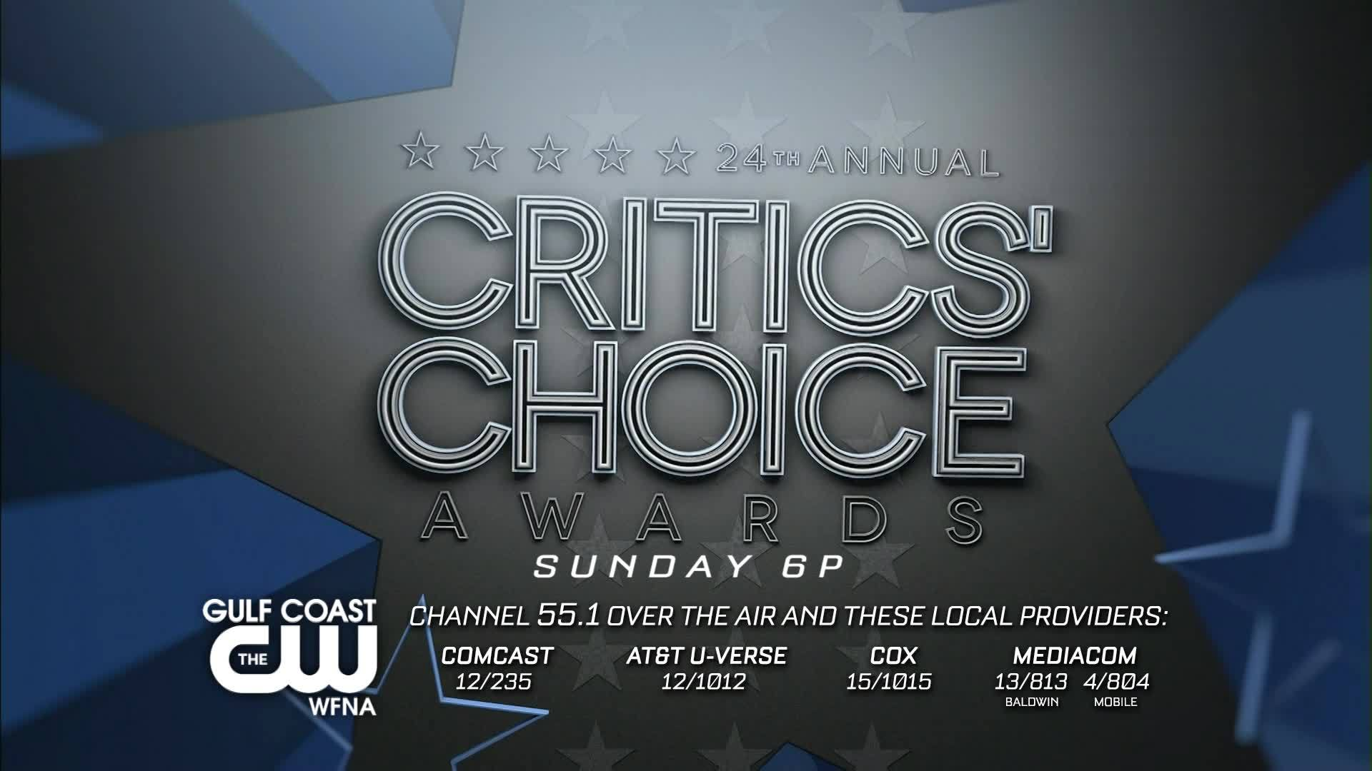 24th Annual Critics Choice Awards | Sunday on The Gulf Coast CW