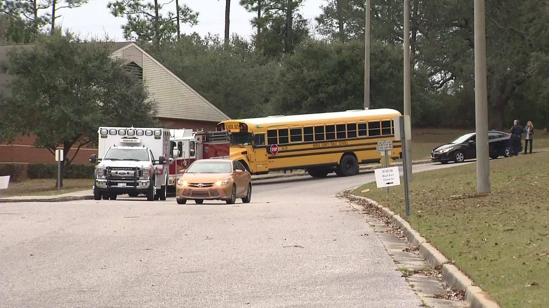 No students injured in bus crash