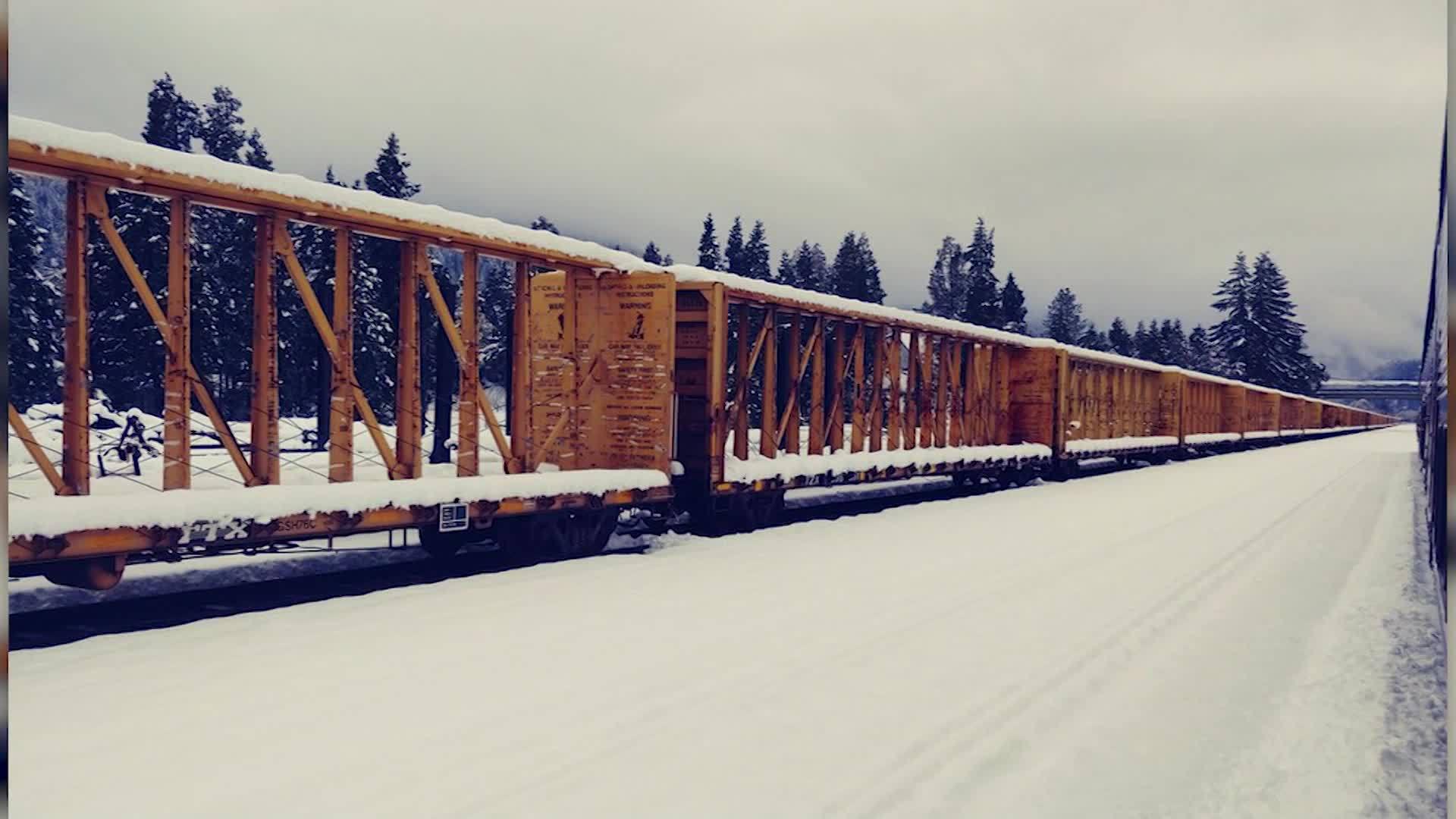 Oregon Train Stranded in the Snow