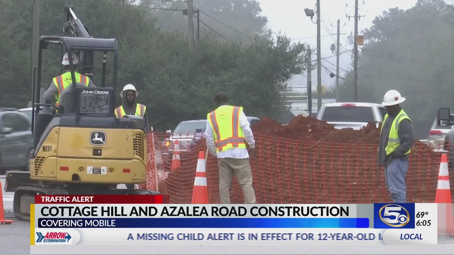 VIDEO: Expect delays at Cottage Hill and Azalea Roads as utility work begins Monday
